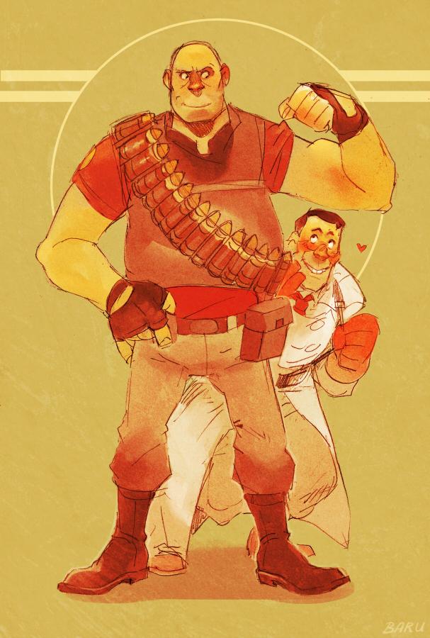 Team Fortress 2: Mein Hero by Barukurii