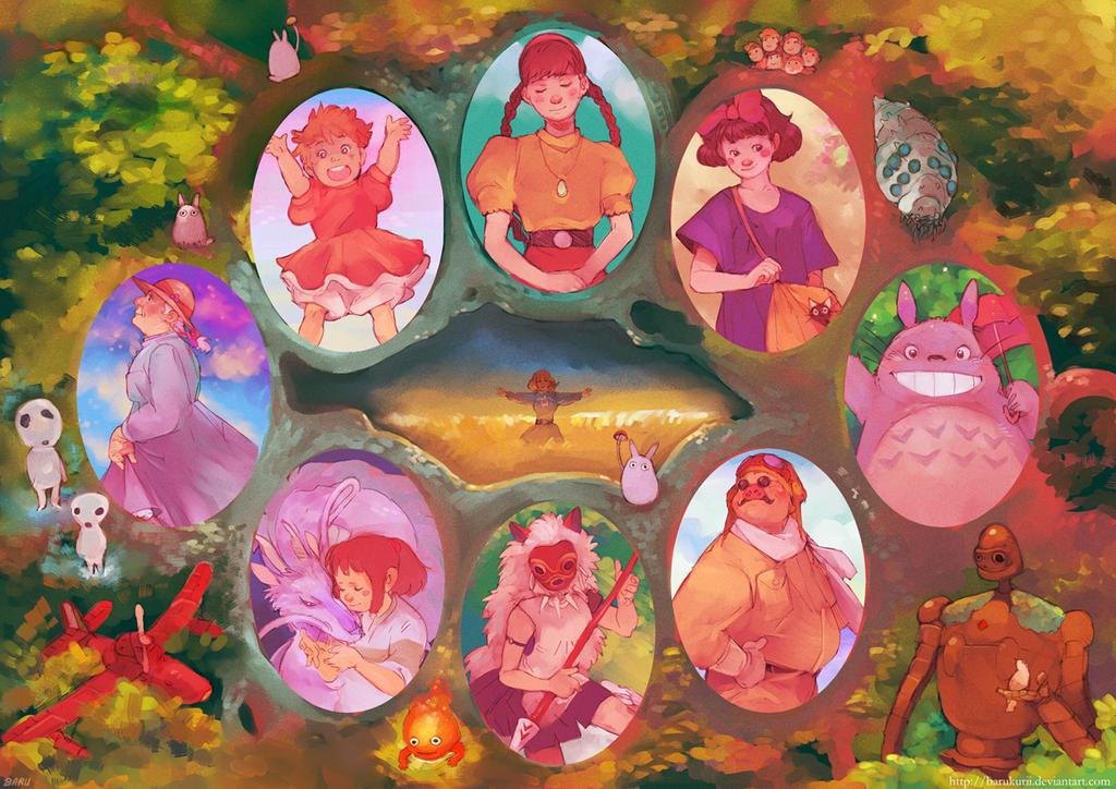 Mini Concours: Ghibli __Beautiful_World_of_Ghibli___by_Barukurii
