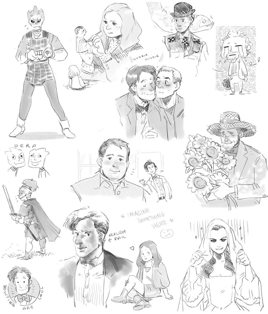 Doctor Who S5 doodles by Barukurii
