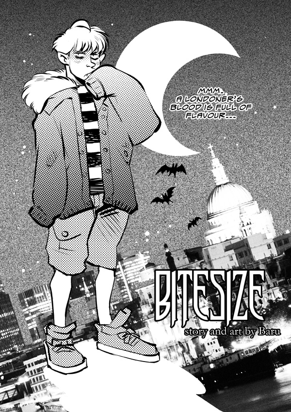 'Bitesize' test comic page by Barukurii