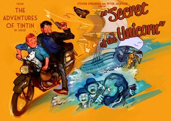 Tintin : Secret of the Unicorn by Barukurii
