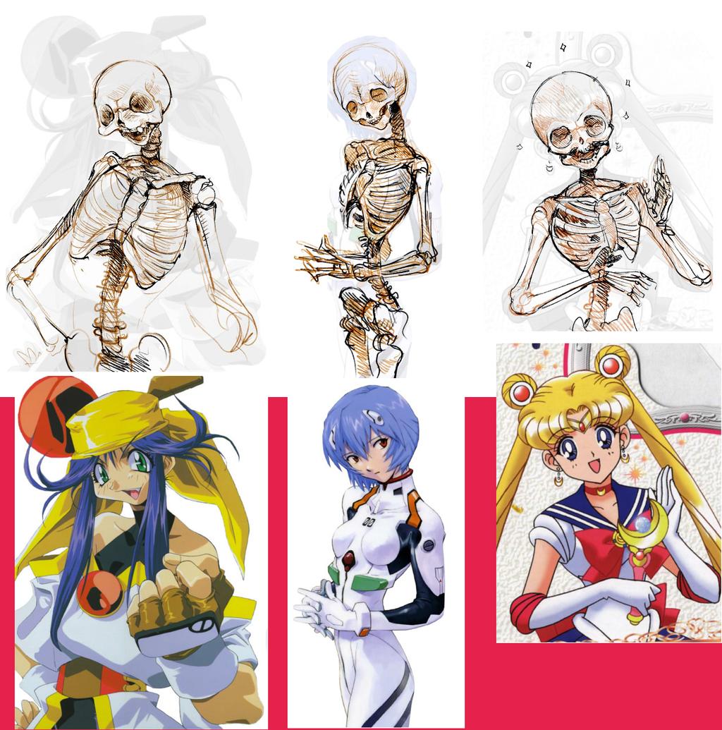 Anime Girl Skeletons By Barukurii On DeviantArt