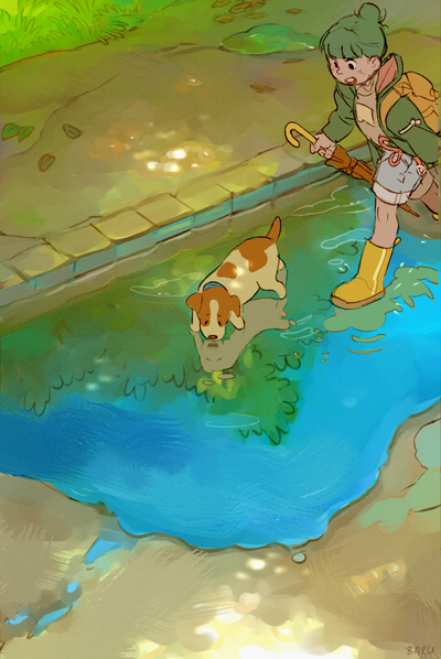 Puddle by Barukurii