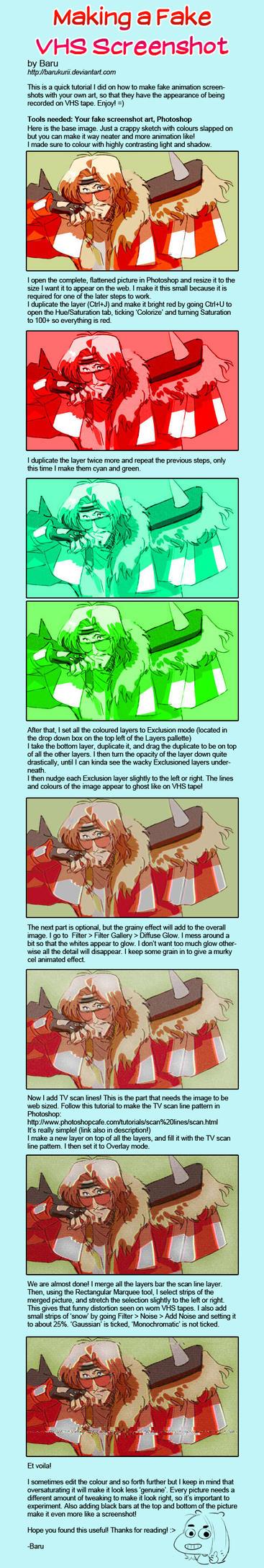 Step-by-Step: Making a Fake VHS Screenshot by Barukurii