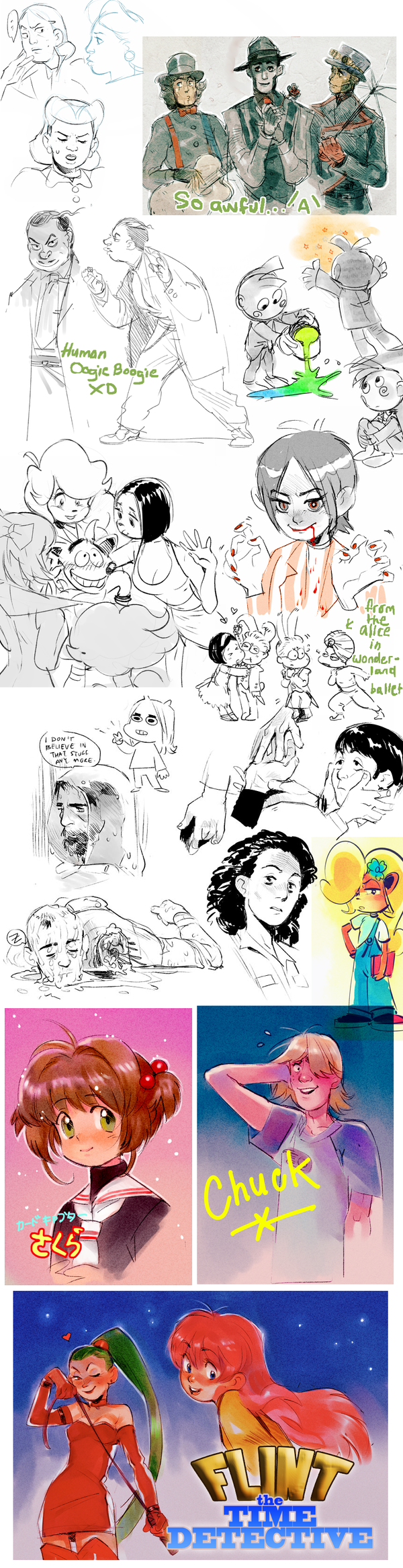 Extremely random sketchdump by Barukurii
