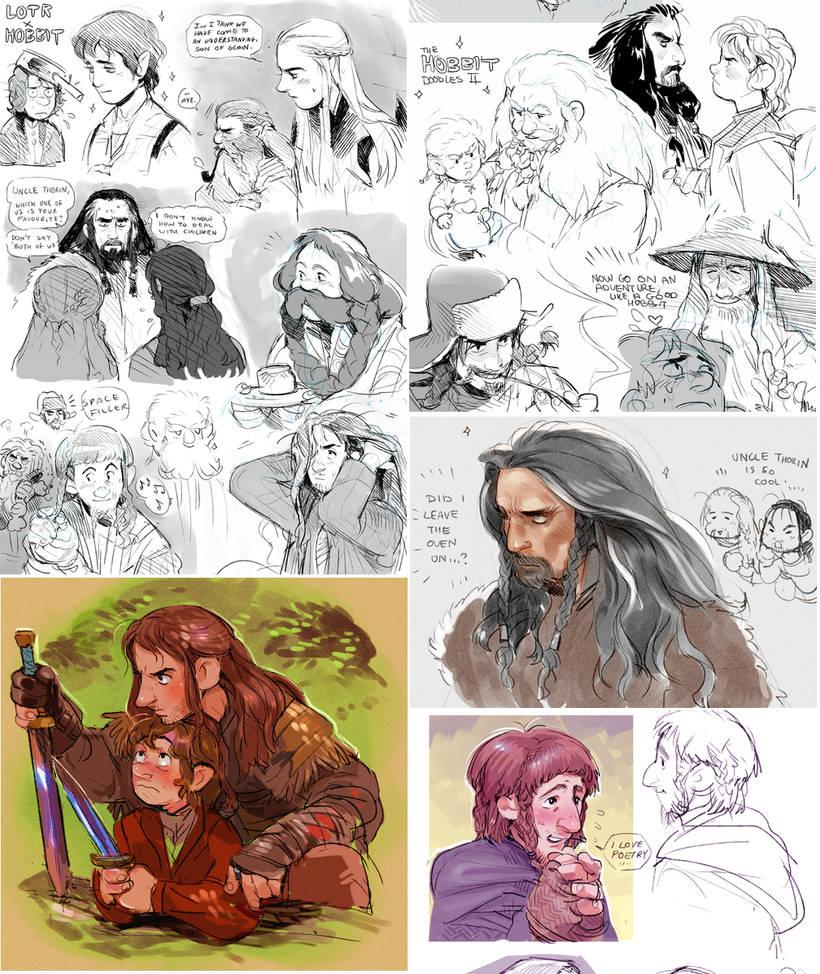 Fugly fanart sketchdump (Hobbity edition) by Barukurii