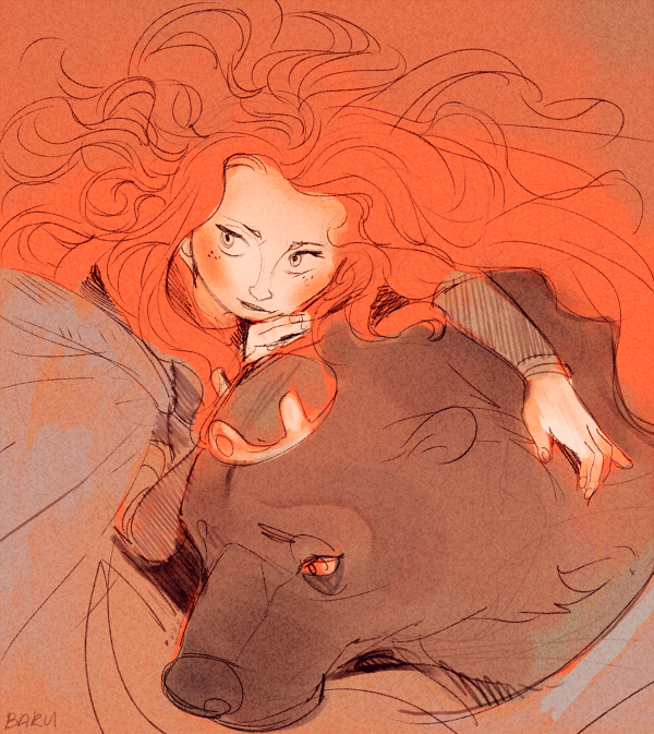 Brave sketch by Barukurii