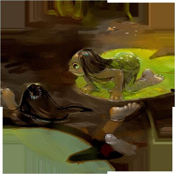 Frog Sisters by Barukurii