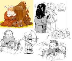 Small fanart sketchdump by Barukurii