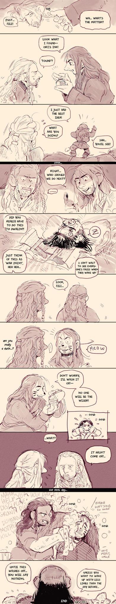 Hobbit fancomic - Ink by Barukurii