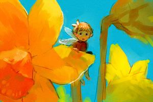 Spring Fairy colour sketch by Barukurii