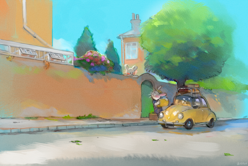Garden Road by Barukurii
