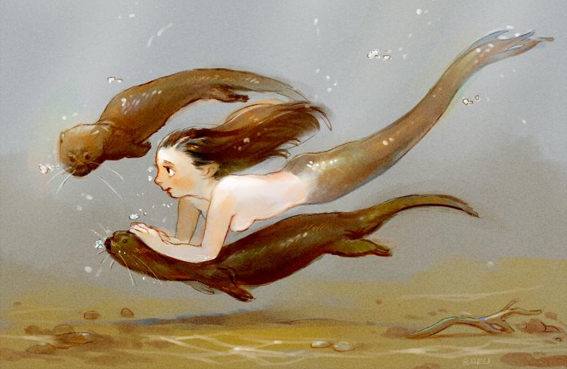 Goddess of the River by Barukurii