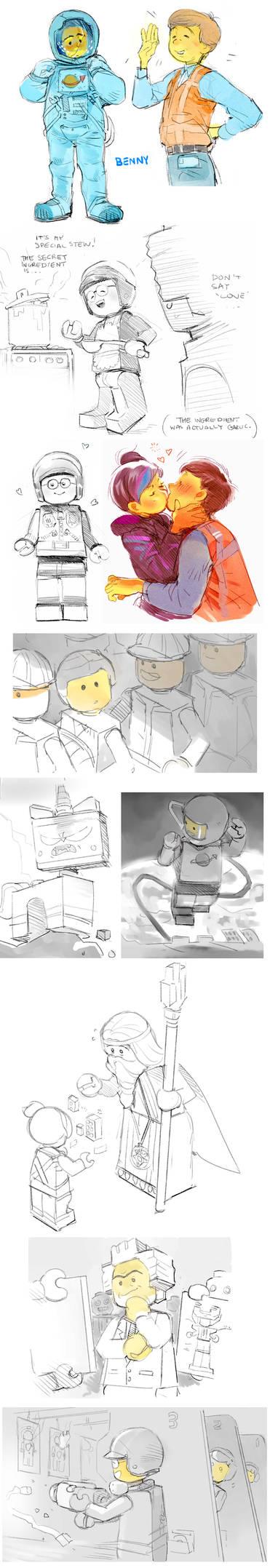 Lego Movie doodles 2