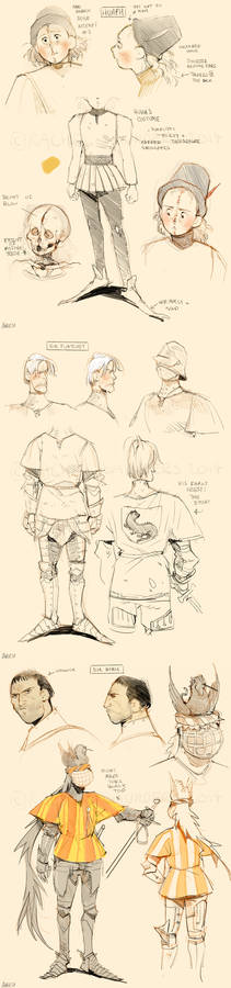 Misericordia Character Designs