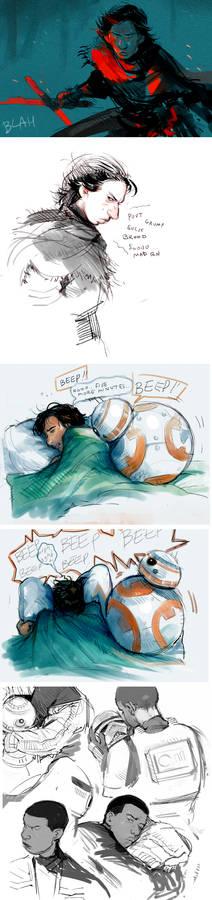 Tiny Star Wars TFA sketchdump