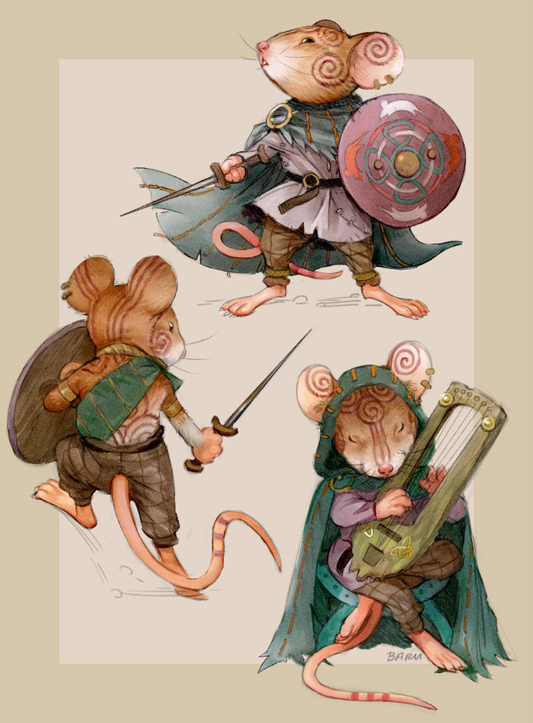 Mouse Warrior by Barukurii on DeviantArt