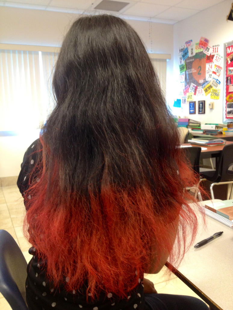 Brown Hair With Red Colored Tips | www.imgkid.com - The ...