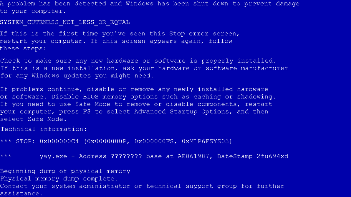 how to fix a blue screen of death windows xp