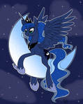 Luna on the moon by CasualColt