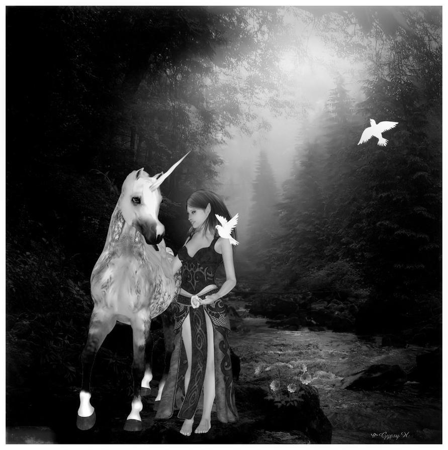 Walk By The Stream by GypsyH