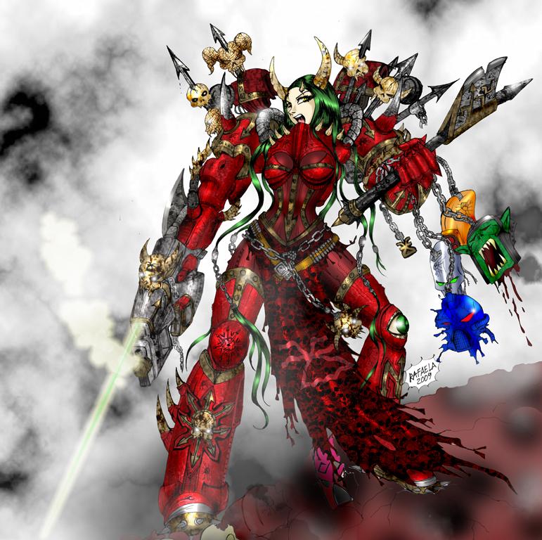Warhammer 40k Chaos Maiden by Axcido on DeviantArt