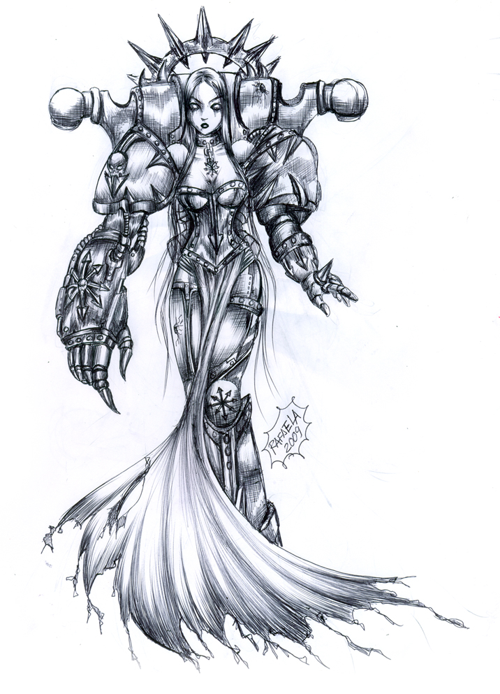 Chaos Lady Warhammer 40 000 by Axcido