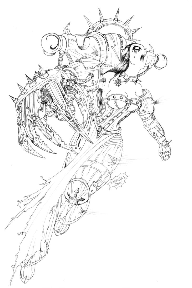 Chaos Lady Warhammer 40000 by Axcido