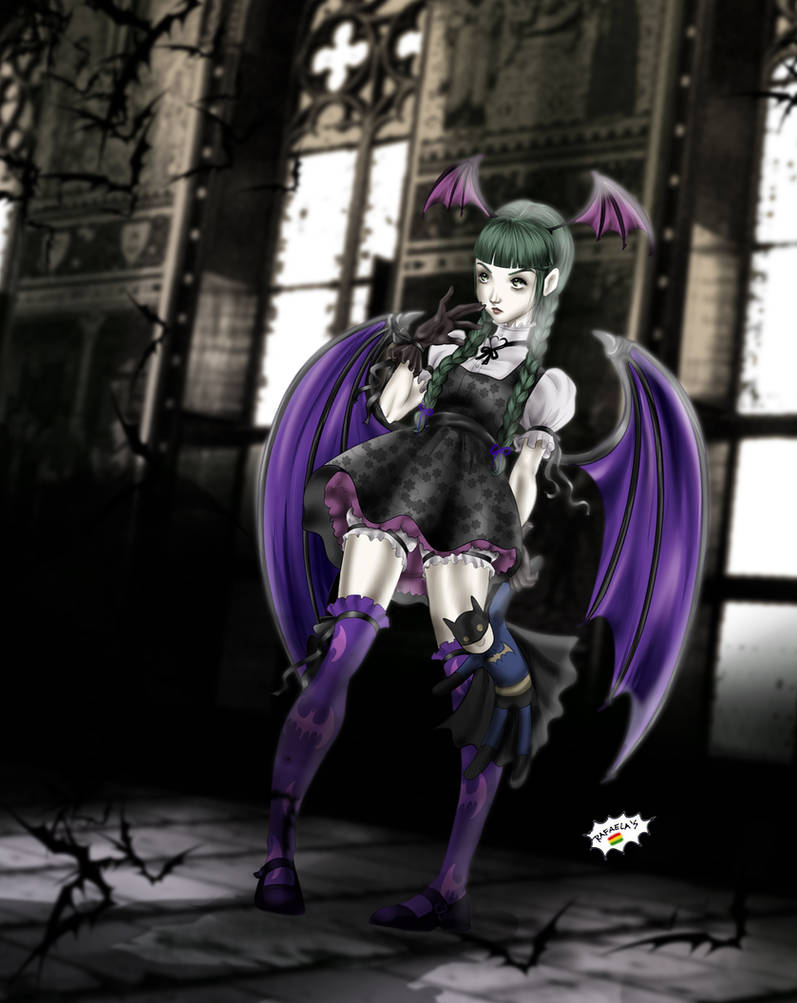 LoliMorrigan by Axcido