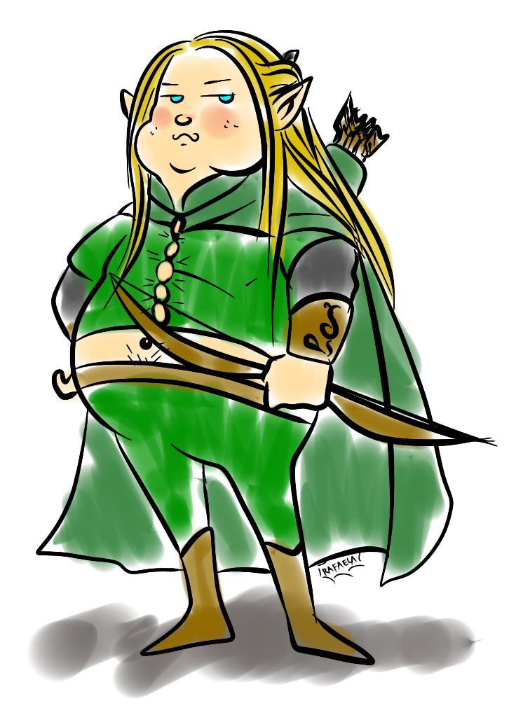 Fat elf by Axcido