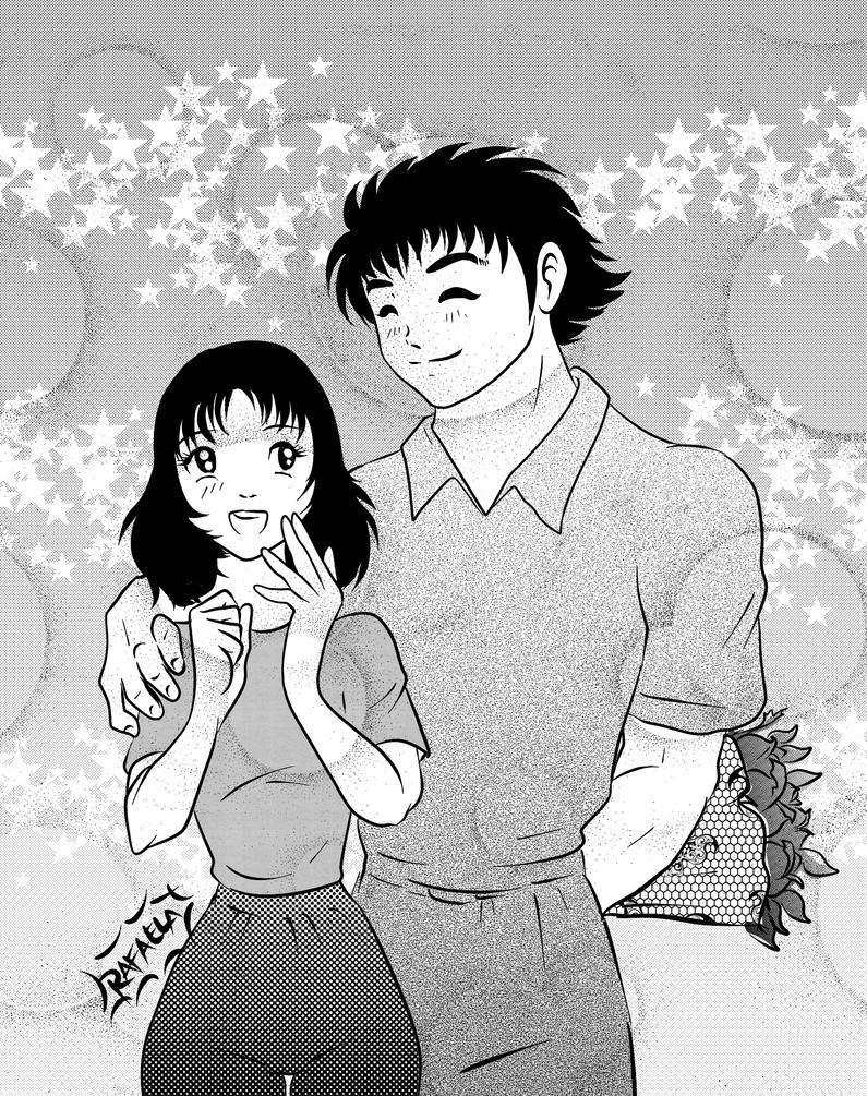 Tsubasa and Sanae by Axcido