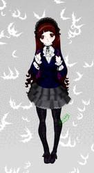 Goth student...