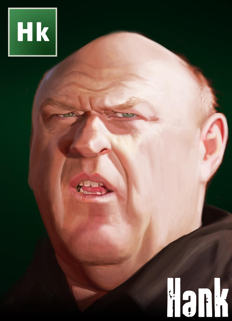 Breaking Bad Caricature - Hank Schrader by Sycra