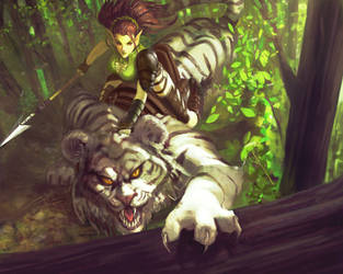 Forest Elf Huntress by Sycra