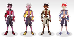 Zian Character Design Colour Studies by Sycra