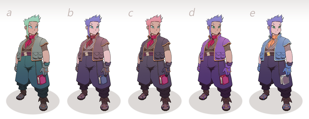Color In Character Design : Ro character design colour studies by sycra on deviantart