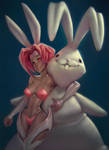 A Girl and Her Doll by Sycra
