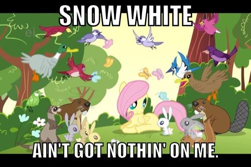 Fluttershy's animal abilities meme by Skidsftw39