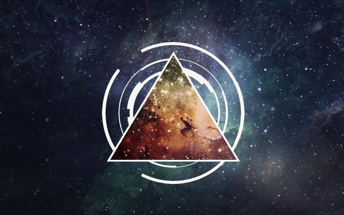 nebula triangle wallpaper by devler on deviantart