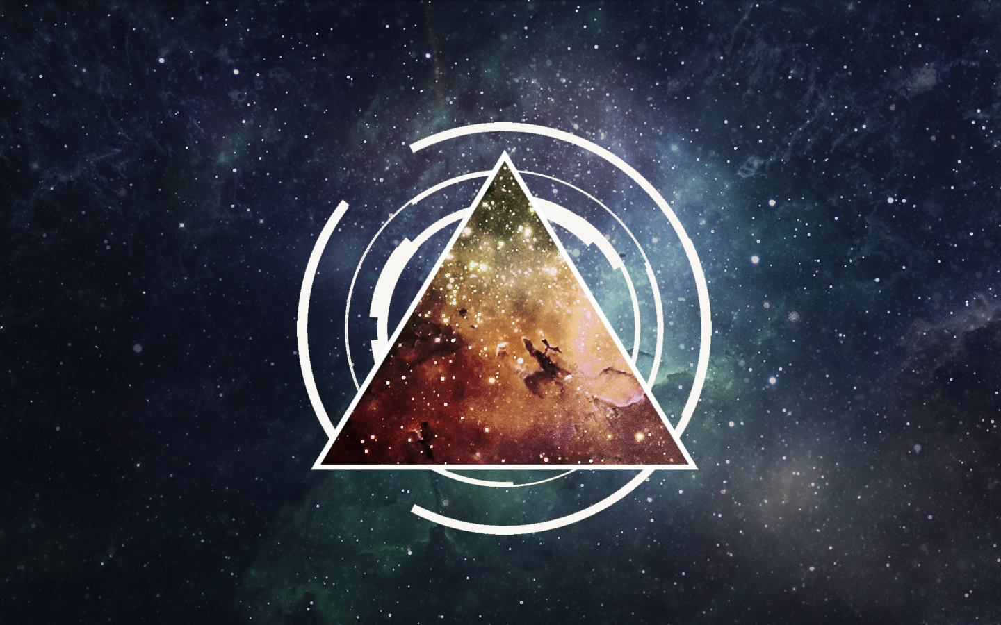 Nebula Triangle Wallpaper by Devler on DeviantArt