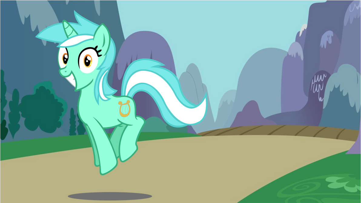 lyra_is_a_happy_little_pony_by_bronyman1
