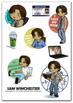 Sam Winchester stickers