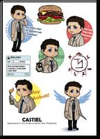 Castiel stickers by Poledrey