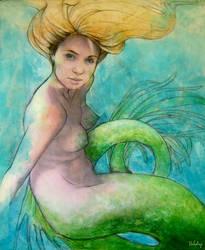Watching mermaid by Poledrey