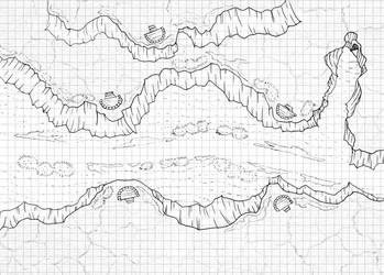 Map Free Lineart Desert by xemuz