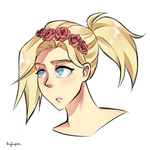 Mercy with flowercrown