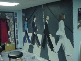 Abbey road wall mural 2 by mysticwonderingwoman on deviantart for Abbey road mural