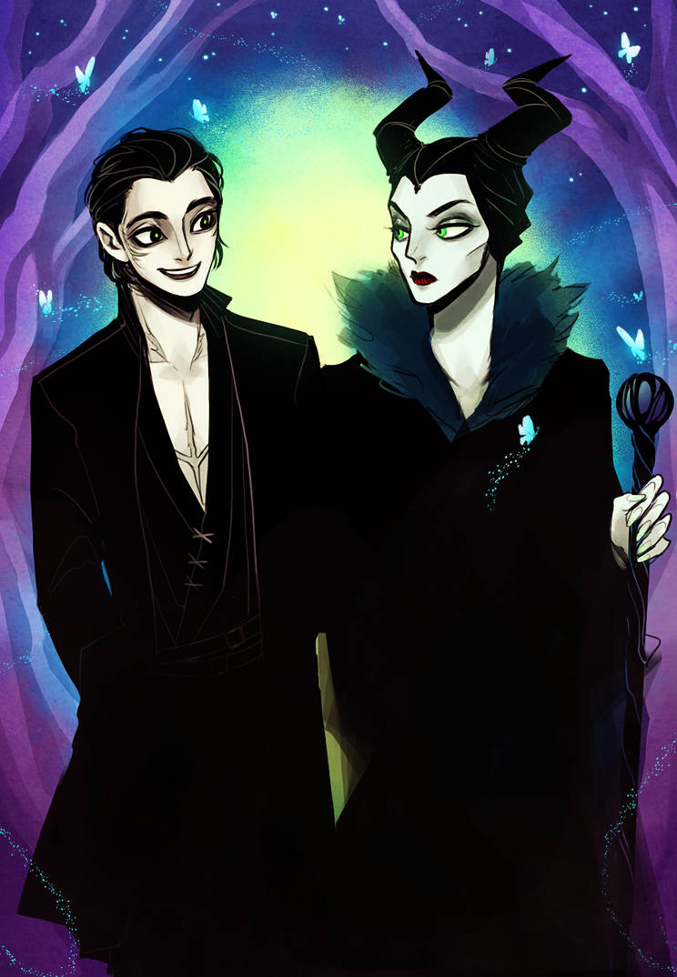 Maleficent X Diaval Fanart Sante Blog