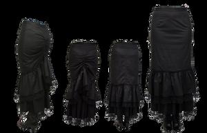 steampunk black skirt stock by darkadathea