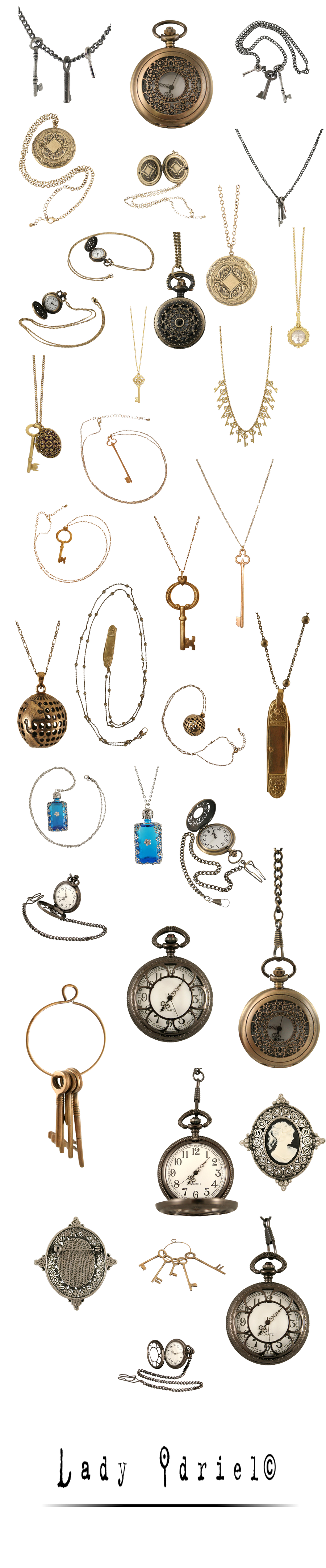 steampunk jewellery stock by darkadathea